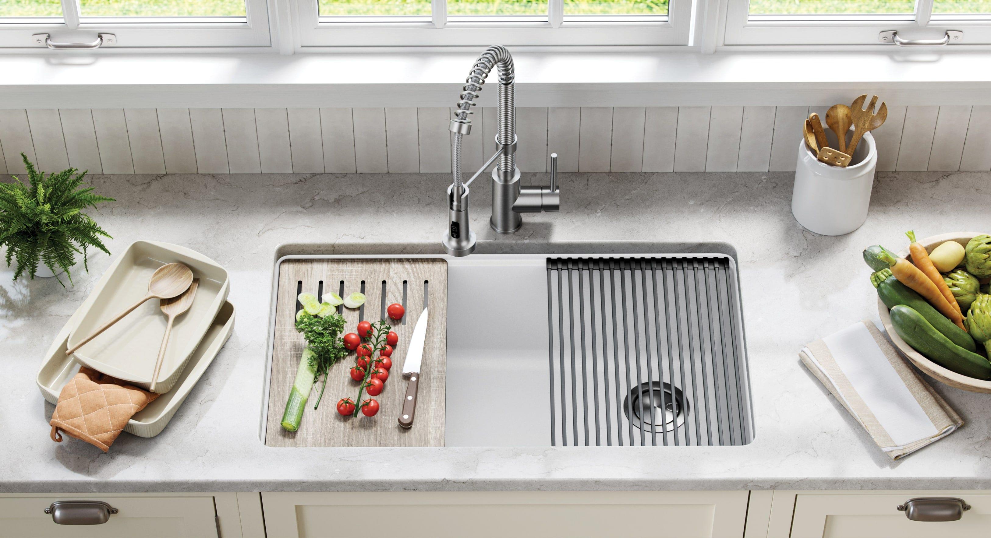 Kraus-33-inch-undermount-workstation-composite-kitchen-sink-accessories