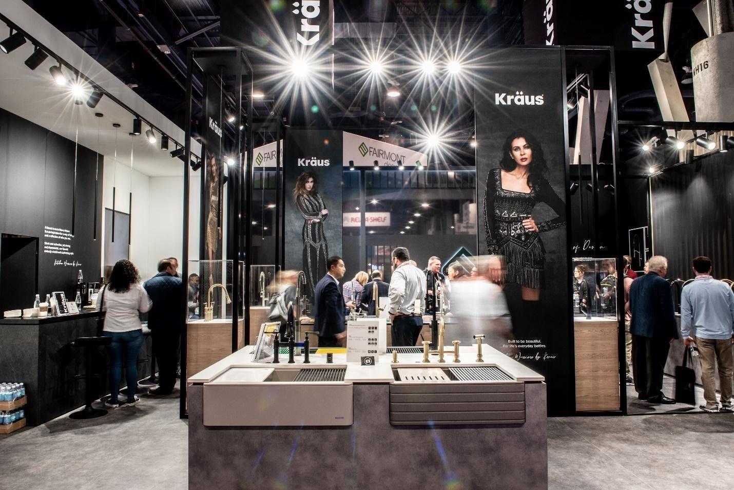 kraus-kbis-2020-granite-sinks-in-booth